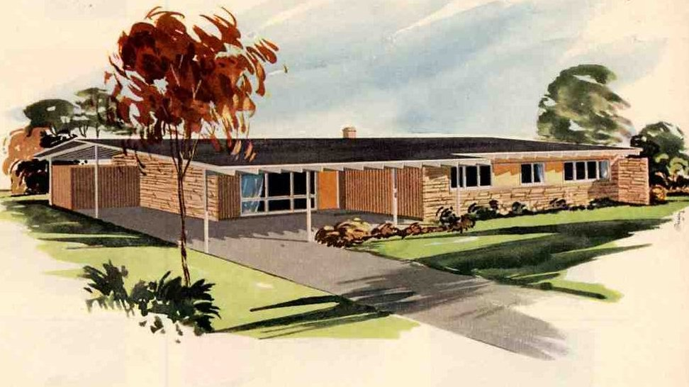 California ranch style homes 1950 s 1960 s the for 1950s modern house design