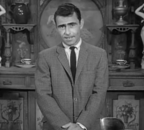 """From """"Mr. Garrity and the Graves"""" - May 8, 1964 - Great Tweed 3 roll 2 blazer, white oxford, and tie"""
