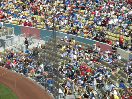 Field level seating today with a great color-blocked barricade.