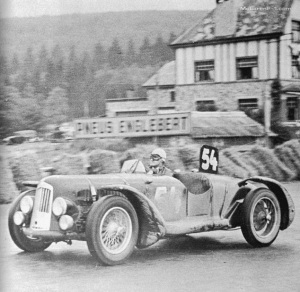 Horsfall? racing in His Aston Martin