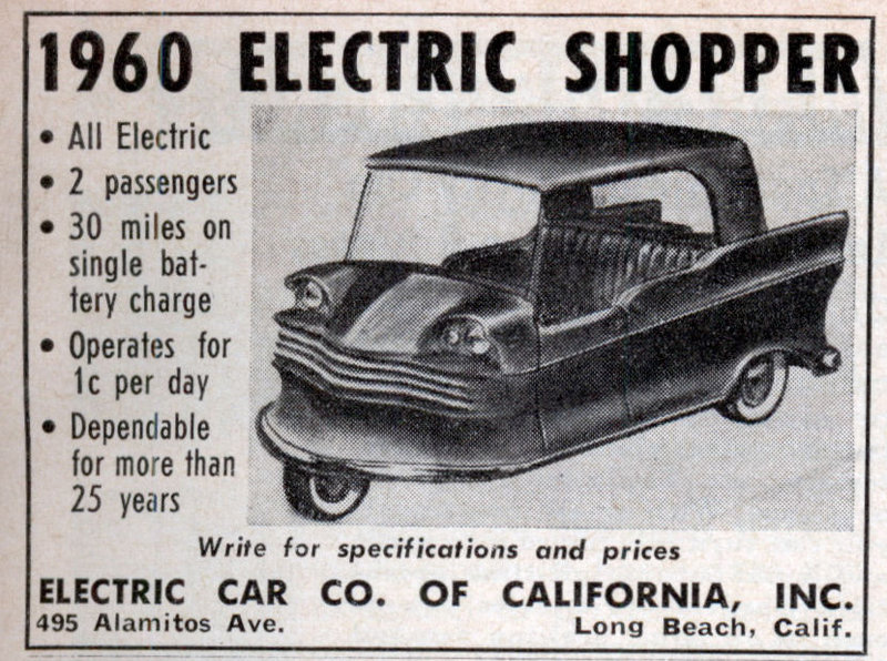 Electric Cars Of The 1960 S The Invisible Agent