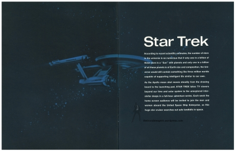 Star Trek Season 1 Sell Sheet Intro Page