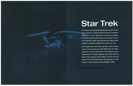 Star Trek Season 1 Sell Sheet Intro Page